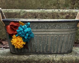 felt flower magnets (set of 10)
