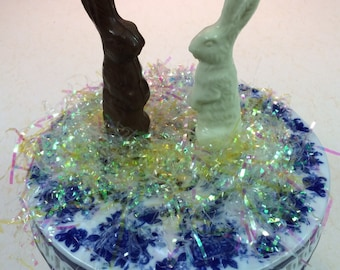 3-6oz Tall Chocolate Easter Bunny