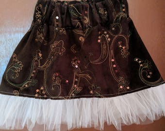 Brown Corduroy skirt, size 3-4