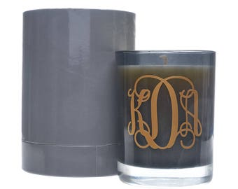 Scented Candles with Monogram - Personalized Candle - Glass Jar Candle - Upscale Fragrant Candle - 60 Hour Burn Time - Reisen Candles