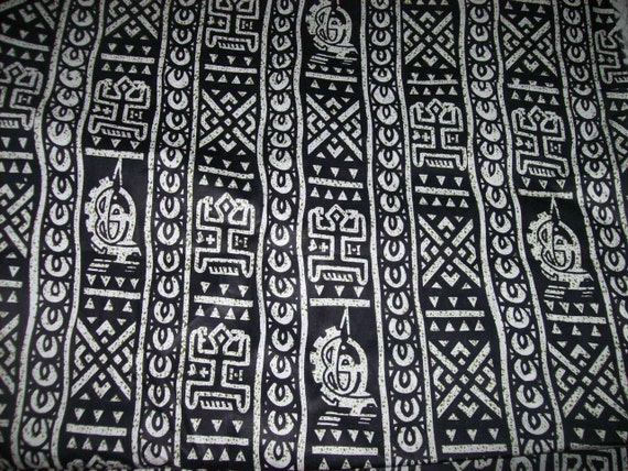 African fabric black and white dogon tribal print fabric per yard tribal print fabric african quilting fabric