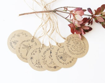 Gift tags kraft Nature