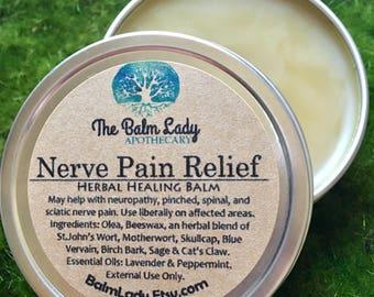 Nerve Pain Relief St. John's Wort, Skullcap, Motherwort, Birch Bark, Blue Vervain, Sage, May help Sciatica, Neuropathy, Pinched, Spinal Pain