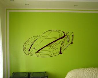 Wall art graphics Ferrari Enzo vinyl wall art sticker.