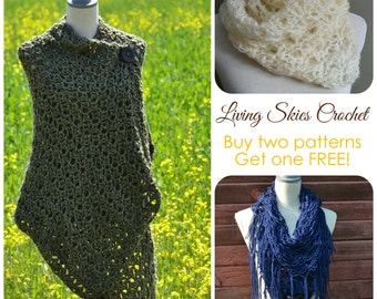 SALE! 3 Living Skies Crochet Patterns for the price of 2
