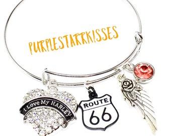I Love my Harley Bracelet | Harley Davidson Bangle Bracelet