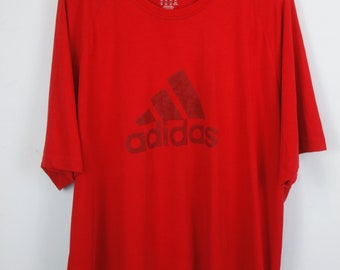 ADIDAS Vintage t-shirt, 90s clothing, adidas t-shirt, red, 90s clothing, oversized