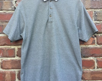 Vintage Green Polo Men's Arizona Jean Company White Collar Detail with ribbed look and feel material 50RNFI