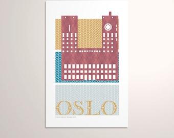 Oslo, Norway — European Capitals Graphic Poster PDF