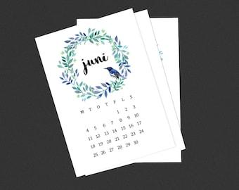 Monthly calendar stickers