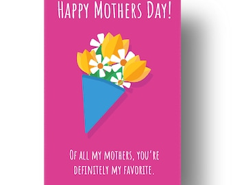 You're My Favourite Mother Funny Confusing Awkward Rude Mothers Day Card