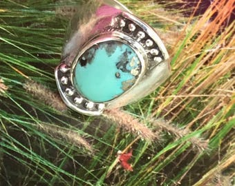 Sterling Silver ring 925 Arizona turquoise