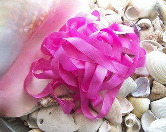 Vintage- Seam Binding -Hot Pink-Ribbon-Silky