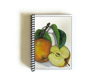 Apples Notebook A6 Spiral Bound