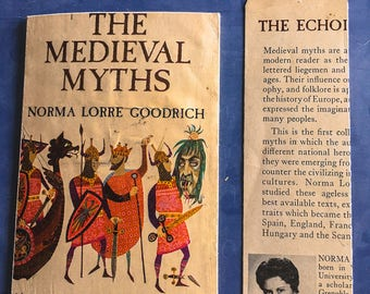 The Medieval Myths    Snail Mail Postcard and Bookmark   Upcycled Book   Bookish, Bibliophile, Literary