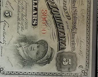 4th of july sale 1880s 5 dollar state of Louisiana single bond