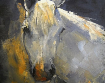 Horse Giclee  Print, Horse Canvas Print, Carol Schiff Print, Free Shipping in USA, Art Print on Canvas, Choose your Size, No Frame Required
