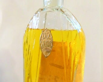 Antique 1920s L'Ile D'Amour by Parfumerie Lournay Vintage Empty Art Deco Glass Perfume Bottle