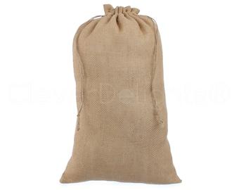 "25 Pack - 12"" x 20"" Natural Burlap Bags - Eco-Friendly Rustic Burlap Bags with Jute Drawstring for Showers Weddings Parties Decor - 12x20"