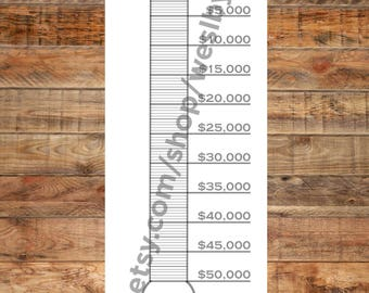 Debt Payoff Thermometer Poster