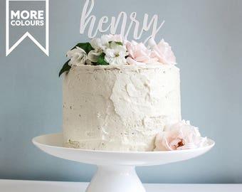 Custom Name Cake Topper, Personalised Topper, Birthday Cake Topper, Wooden Cake Topper, Cake Decoration, Name Cake Topper, Wood Cake Topper