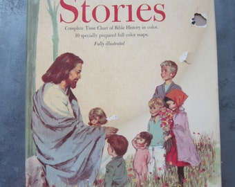 The Young Peoples Book of Bible Stories 1963 Vintage Religious Book for Children