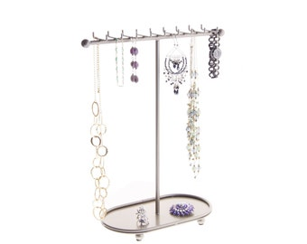 Necklace Holder Tree Stand Jewelry Organizer Bracelet Storage Rack Display - Gianna 4 Colors Available