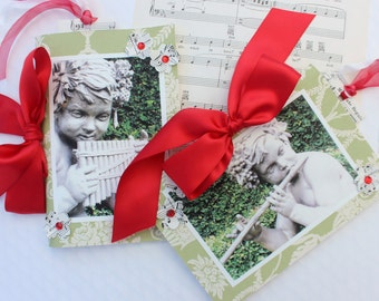 Cupid Cherub Guest Books - Musical Garden Angels ~ One of a Kind - Original Photography and Design by Suzanne MacCrone Rogers
