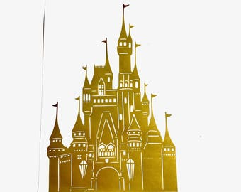 DIY Castle For Any Princess, Vinyl Decal, Car Window, Frame it, Wall Decal, Laptop Decal, Little Girls Room, Childs Bedroom Wall Decal