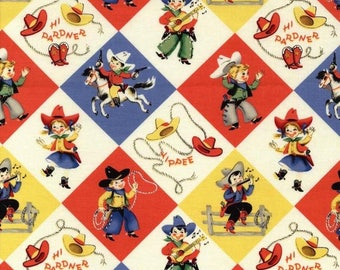 Yippee, Cowboy/Cowgirl retro fabric from Michael Miller