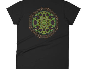 Flower of life Ancient , womens t shirt , sacred geometry , Festival t shirt , shipibo clothes , sacred art , hippie t shirt , yogawear
