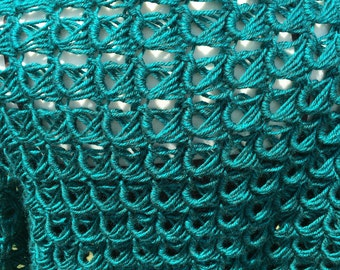 Broomstick lace shrug pattern