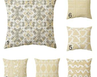 Tan cushion cover, tan pillow cover, beige cushion cover, beige throw pillow cover, tan euro sham, zipper closure