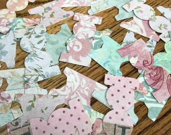 "100 ""Floral"" Mixed Page Tabs ~ Scrap Booking Tabs ~ Rectangular and Round Die Cut Tabs"