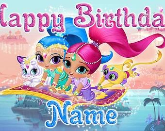 Shimmer and Shine custom birthday banner