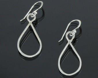 Handmade Simple Hammered Hoop Earrings