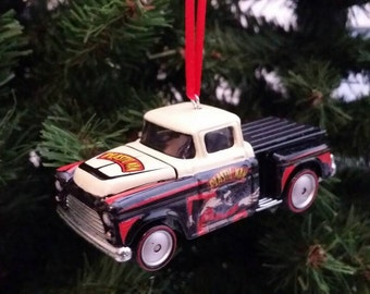 Miniature 1956 Chevy Pickup truck  Mothers Day, Fathers Day, Birthday Ornament Free Shipping Happy Holidays