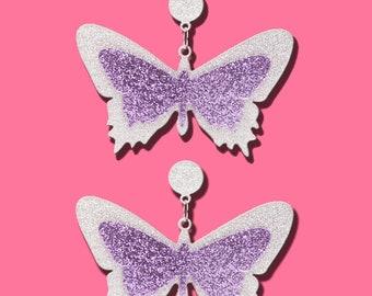Butterfly Acrylic Earrings