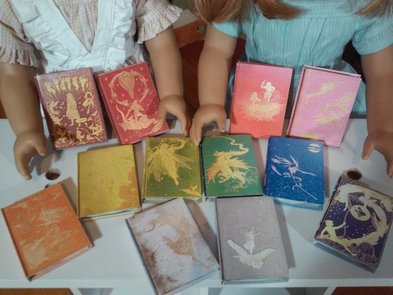 Printable Andrew Lang Colored Fairy Books for 18 Dolls