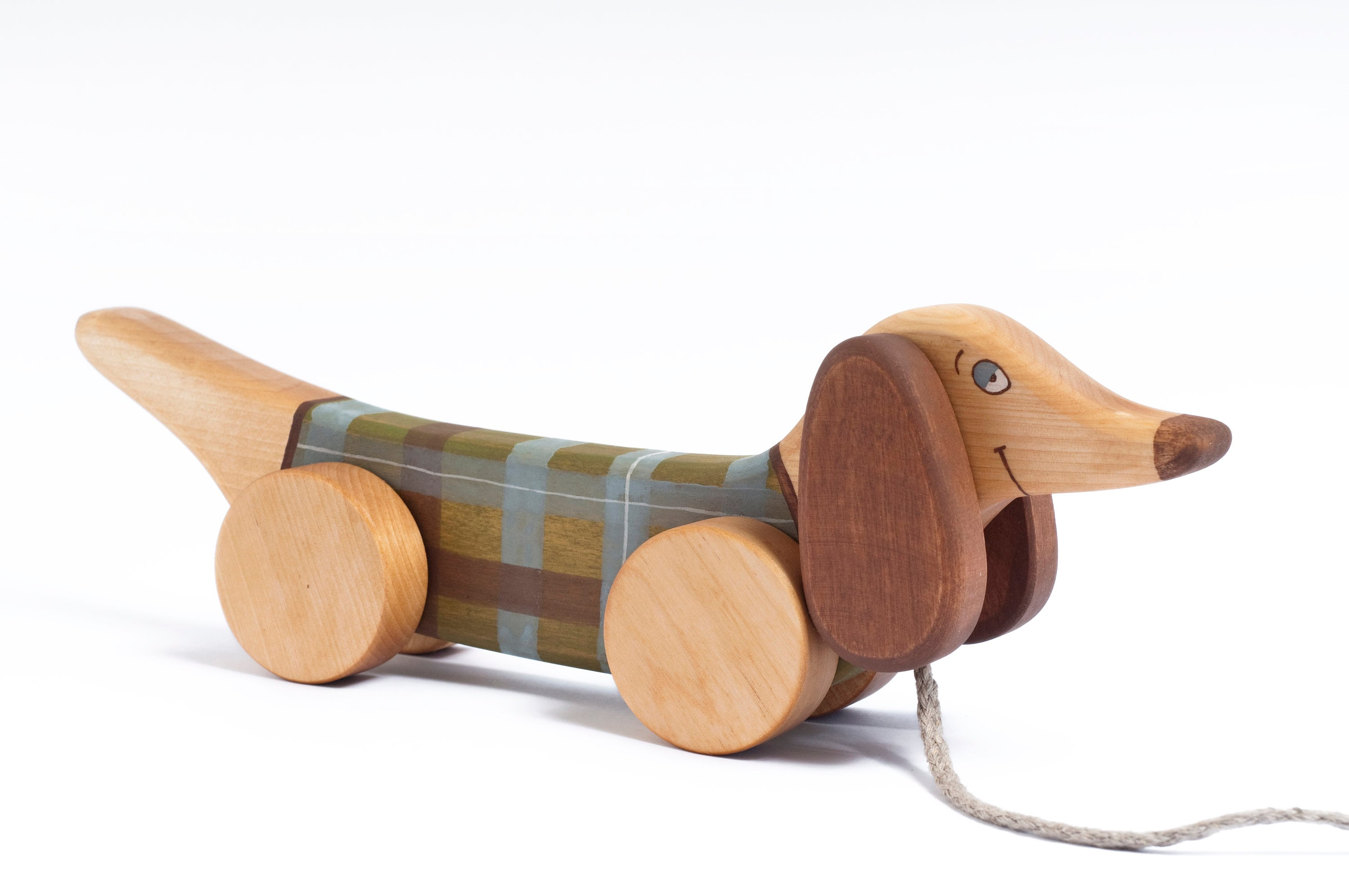 Pull Dog, Kids Wooden Toy Dog, Pull Toy Dog, Wood Toddlers Toy, Wood Toy, Wooden Pull Toys, Wooden Dachshund
