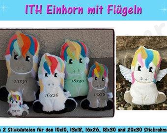 Einhorn ITH Spar-Set (Größen S-XXL) - ITH für 10x10cm bis 20x30cm Rahmen