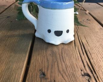 Porcelain Happy Ghost Mug