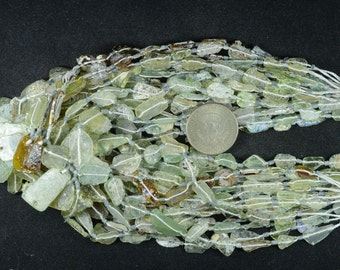 Roman Glass Beads -- Ancient Roman Glass Fragment Beads 100 BC -- 1 STRAND RM13