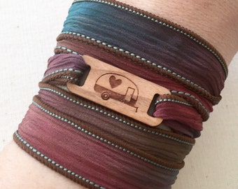 Camper Trailer Jewelry, Essential Oil Diffuser Bracelet, Camper Trailer Bracelet