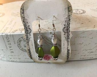 Baroque fresh water pearl earrings