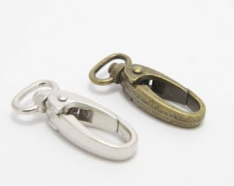 12mm/half inch swivel snap hooks, 13mm swivel snap hooks in two colours