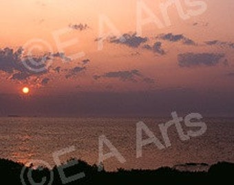 Portland Head Light Dawn Cape Elizabeth, Maine Panoramic Photography Maine Photographer Paul Vose-Maine Color Art Print