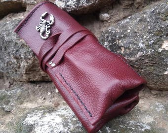 Leather Roll up for Watches Travel Case Watch Organizer Roll Handmade Collector Watch Bag Soft Leather