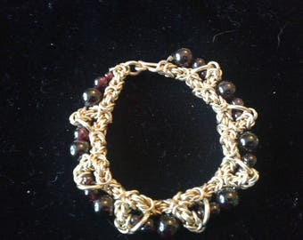 Gold Byzantine with Garnets