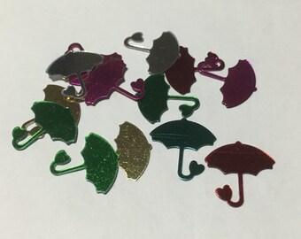 25 piece assorted Umbrella confetti / sequins, 14 mm (26)